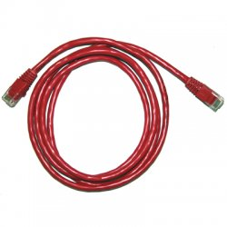 CP Tech / Level One - C5E-RD-100-M - 100ft Cat5e 350mhz Red Molded Snagless Patch Cable