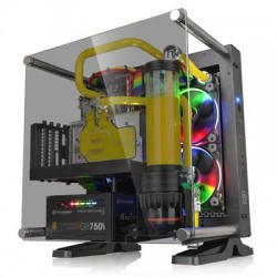 Thermaltake - CA-1H9-00T1WN-00 - Case CA-1H9-00T1WN-00 Core P1 TG Mini ITX Wall-Mount Chassis Black Retail