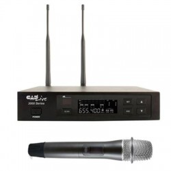 CAD Audio - CADLive 3000S - CAD Audio UHF Wireless Cardioid Dynamic Handheld Microphone System w/D90 Capsule - 655 MHz to 679 MHz Operating Frequency - 40 Hz to 15 kHz Frequency Response