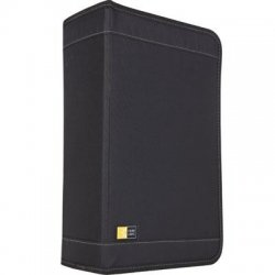 Case Logic - CDW-128TBLACK - Case Logic CDW-128T Optical Disc Case - Wallet - Nylon - Black - 144 CD/DVD
