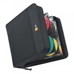 Case Logic - CDW-208 - Case Logic CD Wallet - Book Fold - Nylon - Black - 208 CD/DVD