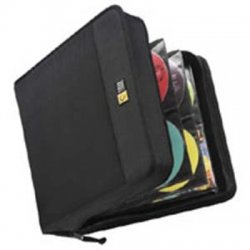 Case Logic - CDW-320 - Case Logic 336 Capacity CD Wallet - Wallet - Book Fold - Nylon - Black - 336 CD/DVD