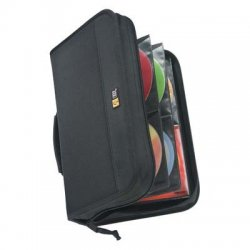 Case Logic - CDW-92BLACK - Case Logic 92 Capacity CD Wallet - Book Fold - Nylon - Black - 92 CD/DVD