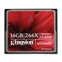 Kingston - CF/16GB-U2 - Kingston 16GB Ultimate CompactFlash Card - 266x - 16 GB