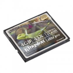 Kingston - CF/4GB - Kingston 4GB CompactFlash Card - 4 GB