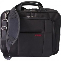 Codi - CK0000168 - Codi Riserva Carrying Case (Sleeve) for 15.6 Notebook - Black, Gray - Ballistic Nylon, Leather, Nylon Interior - Shoulder Strap, Hand Grip - 13.3 Height x 15.5 Width x 5.7 Depth
