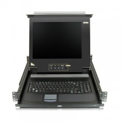 Aten Technologies - CL1000M - Aten 17 Single-Rail LCD Integrated Console - 1 Computer(s) - 17 Active Matrix TFT LCD - 1 x SPHD-15 Keyboard/Mouse/Video