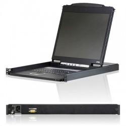 Aten Technologies - CL1000N - Aten CL1000N LCD Console - 1 Computer(s) - 19 LCD - SXGA - 1280 x 1024 - 1 - Keyboard - 1U High