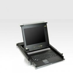 Aten Technologies - CL1008M - Aten 17 CL1008M 8-port LCD KVM for SMB - 8 Computer(s) - 17 Active Matrix TFT LCD - 8 x HD-15 Keyboard/Mouse/Video, 1 x Flash-upgrade - 1U Height