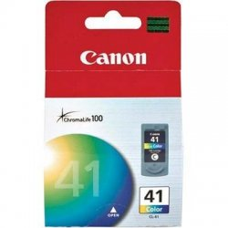 Canon - 0617B002 - Canon CL-41 Tri-Color Ink Cartridge - Inkjet - 1 Each