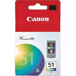 Canon - 0618B002 - Canon CL-51 High Capacity Color Ink Cartridge - Inkjet - 1 Each