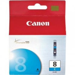 Canon - 0621B002 - Canon CLI-8C Ink Cartridge - Inkjet - 1 Each