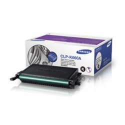 Samsung - CLP-K660A - Samsung CLP-K660A Original Toner Cartridge - Laser - 2500 Pages - Black - 1 Each