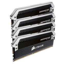 Corsair - CMD32GX3M4A1600C9 - Corsair Dominator Platinum 32GB DDR3 SDRAM Memory Module - 32 GB (4 x 8 GB) - DDR3 SDRAM - 1600 MHz DDR3-1600/PC3-12800 - 1.50 V - Non-ECC - Unbuffered - 240-pin - DIMM
