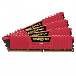 Corsair - CMK16GX4M4A2400C14R - Corsair Vengeance LPX 16GB DDR4 SDRAM Memory Module - 16 GB (4 x 4 GB) - DDR4 SDRAM - 2400 MHz DDR4-2400/PC4-19200 - 1.20 V - Unbuffered - DIMM