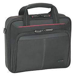 Targus - CN31US - Targus CN31US Carrying Case for 15.6 Notebook - Black, Red - Polyester - Shoulder Strap, Handle - 13 Height x 15.3 Width x 3 Depth