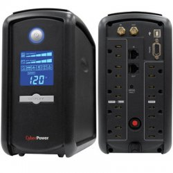 CyberPower - CP1000AVRLCD - CyberPower Intelligent LCD CP1000AVRLCD 1000VA Tower UPS - 1000VA/600W - 2 Minutes Full Load - 4 x NEMA 5-15R - Surge-protected, 5 x NEMA 5-15R - Battery/Surge-protected