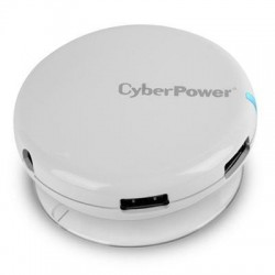 CyberPower - CPH430PW - CyberPower CPH430PW USB 3.0 Superspeed Hub with 4 Ports and 3.6A AC Charger - White - USB - Rack Mount - 4 USB Port(s) - 4 USB 3.0 Port(s)