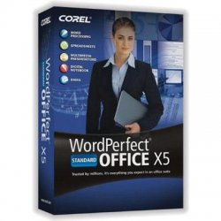 Corel - WPX5STDENMBUG - WordPerfect Office X5 Standard Edition - Upgrade package - 1 user - CD ( mini-box ) - Win - English