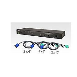 Aten Technologies - CS1708AUKIT - Aten 8-Port Combo (USB-PS/2) KVMP with 8-USB Cables