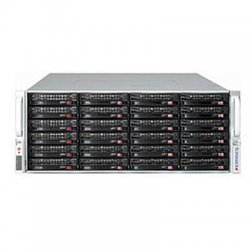 "Supermicro - CSE-847A-R1400UB - Supermicro SuperChassis 847A-R1400UB Racmount Enclosure - Rack-mountable - Black - 4U - 36 x Bay - 7 x Fan(s) Installed - 2 x 1.40 kW - ATX, EATX Motherboard Supported - 80 lb - 36 x External 3.5"" Bay - 7x Slot(s)"