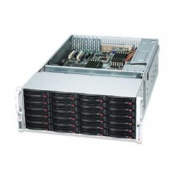 "Supermicro - CSE-847E1-R1400LPB - Supermicro SuperChassis SC847E1-R1400LPB Rackmount Enclosure - Rack-mountable - Black - 4U - 36 x Bay - 7 x Fan(s) Installed - 2 x 1.40 kW - ATX, EATX Motherboard Supported - 80 lb - 36 x External 3.5"" Bay - 7x Slot(s)"