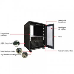 "Supermicro - CSE-RACK14U - Supermicro RACK14U Rack Cabinet - 19"" 14U Wide - Black"
