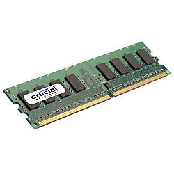 Crucial Technology - CT12864AA667 - Crucial 1GB DDR2 SDRAM Memory Module - 1GB (1 x 1GB) - 667MHz DDR2-667/PC2-5300 - Non-ECC - DDR2 SDRAM - 240-pin