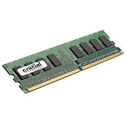 Crucial Technology - CT12864AA800 - Crucial 1GB DDR2 SDRAM Memory Module - 1GB - 800MHz DDR2-800/PC2-6400 - Non-ECC - DDR2 SDRAM - 240-pin DIMM