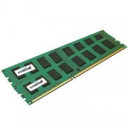 Crucial Technology - CT2KIT102472BD160B - Crucial 16GB (2 x 8 GB) DDR3 SDRAM Memory Module - 16 GB (2 x 8 GB) - DDR3 SDRAM - 1600 MHz DDR3-1600/PC3-12800 - 1.35 V - ECC - Unbuffered - 240-pin - DIMM