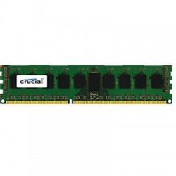 Crucial Technology - CT51272BD160BJ - Crucial 4GB, 240-pin DIMM, DDR3 PC3-12800 Memory Module - 4 GB - DDR3 SDRAM - 1600 MHz DDR3-1600/PC3-12800 - 1.35 V - ECC - Unbuffered - 240-pin - DIMM