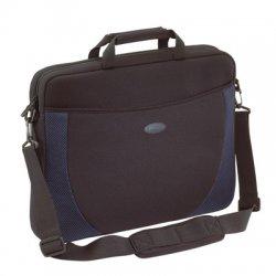 Targus - CVR217 - Targus Notebook Case - Top-loading - Shoulder Strap, Handle - Neoprene - Black, Blue