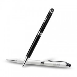 Adesso / ADS Technologies - CYBERPEN 202 - Adesso CyberPen 202 2-in-1 Stylus Pen - Rubber - Black, White - Smartphone, Tablet Device Supported - Capacitive Touchscreen Type Supported