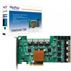 HighPoint Technologies - DC7280 - HighPoint 32-port SAS Controller - Serial ATA/300 - PCI Express 2.0 x8 - Plug-in Card - 8 Total SAS Port(s) - 8 SAS Port(s) Internal