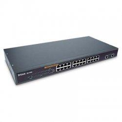 D-Link - DES-1026G - D-Link DES-1026G 24-Port 10/100 Unmanaged Rackmount Switch with 2 Gigabit Copper/SFP Ports - 24-Port 10/100 Unmanaged Rackmount Switch with 2 Gigabit Copper/SFP Ports