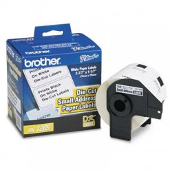 "Brother International - DK1209 - Brother Address Label - 1.14"" Width x 2.42"" Length - 800 / Roll - Rectangle - Direct Thermal - White - 800 / Roll"