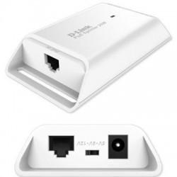 D-Link - DPE301GS - D-Link 1-Port Gigabit PoE Splitter - 12 V DC, 2.50 A Output - 1 10/100/1000Base-T Input Port(s) - 1 10/100/1000Base-T Output Port(s) - 32.40 W