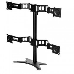 Doublesight - DS-430STA - DoubleSight Displays Quad Monitor Flex Stand TAA - 27 to 30 Screen Support - 80 lb Load Capacity - Flat Panel Display Type Supported36 Width - Desktop - Black - TAA Compliant