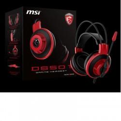 MSI - DS501 GAMING HEADSET - MSI DS501 Gaming Headset - Stereo - Mini-phone - Wired - 32 Ohm - 20 Hz - 20 kHz - Over-the-head - Binaural - Circumaural - 6.89 ft Cable