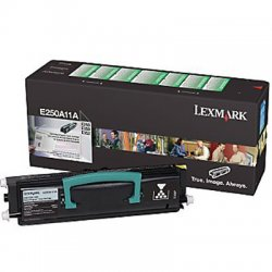 Lexmark - E250A21A - Lexmark Black Toner Cartridge - Laser - 3500 Page - 1 Each