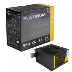 Antec - EA-650 PLATINUM - Antec EarthWatts EA-650 Platinum ATX12V & EPS12V Power Supply - ATX12V/EPS12V - 110 V AC, 220 V AC Input Voltage - Internal - NVIDIA SLI Supported - 93% Efficiency - 650 W