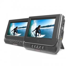 Ematic - ED727 - Ematic ED727 Car DVD Player - 7 LCD - DVD-R, CD-R - DVD Video, VCD, MP4, DivX - CD-DA, MP3 - SD - USBHeadrest-mountable