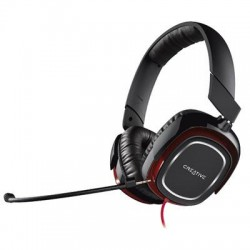 Creative Labs - 51EF0700AA001 - Creative Draco HS880 Headset - Stereo - Mini-phone - Wired - 32 Ohm - 20 Hz - 20 kHz - Over-the-head - Binaural - Circumaural - Noise Canceling