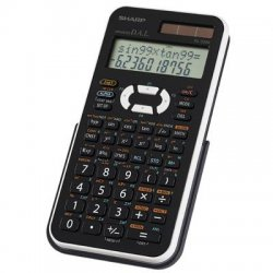 Sharp - EL-520XBWH - Sharp EL-520XBWH Scientific Calculator - 390 Functions - Black, White - 1 Each