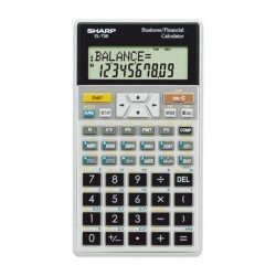Sharp - EL-738C - Sharp Calculators EL738C Business Financial Calculator - 2 Line(s) - 10 Digits - LCD - Battery Powered - 3.3 x 5.9 x 0.5 - 1 Each
