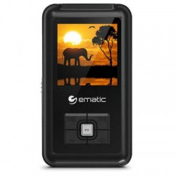 Ematic - EM208VIDBL - Ematic EM208VID 8 GB Black Flash Portable Media Player - Photo Viewer, Video Player, Audio Player, FM Tuner, Voice Recorder, e-Book, FM Recorder - 1.5 - USB - Headphone
