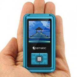 Ematic - EM208VIDBU - Ematic EM208VID 8 GB Blue Flash Portable Media Player - Photo Viewer, Video Player, Audio Player, FM Tuner, Voice Recorder, e-Book, FM Recorder - 1.5 - USB - Headphone