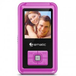 Ematic - EM208VIDPN - Ematic EM208VID 8 GB Pink Flash Portable Media Player - Photo Viewer, Video Player, Audio Player, FM Tuner, Voice Recorder, e-Book, FM Recorder - 1.5 Color LCD - USB - Headphone