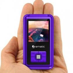 Ematic - EM208VIDPR - Ematic EM208VID 8 GB Purple Flash Portable Media Player - Photo Viewer, Video Player, Audio Player, FM Tuner, Voice Recorder, e-Book, FM Recorder - 1.5 - USB - Headphone