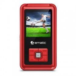 Ematic - EM208VIDRD - Ematic EM208VID 8 GB Red Flash Portable Media Player - Photo Viewer, Video Player, Audio Player, FM Tuner, Voice Recorder, e-Book, FM Recorder - 1.5 - USB - Headphone